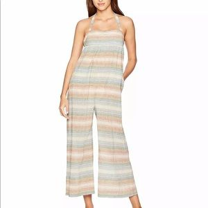 Mara Hoffman Sahara striped linen swim coverup
